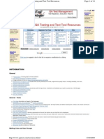 Software Qa Testing and Test Tool Resources
