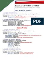 Directorio de Las Iglesias de Cristo en Chile(2016)