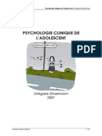Psychologie Clinique de Ladolescent Notes de Cours 2007 Camille Angelo Aglione