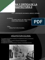Historia Arquitectura Colonial