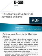 Raymond Williams the Analysis of Culture