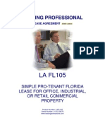 Lafl105 Simple Pro Tenant Florida Lease Office Industrial Retail Property[1]