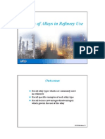 3. Classes of Alloys in Refinery Use
