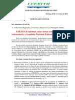 Comunicado UFEMUCH 20.11.14