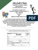 High School Volleyball Clinic 2014