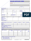 Oxylane Supplier Information Form