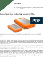 BackUp Manual en Mac
