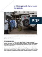 Six Months After Ebola Appeared, Sierra Leone Still Lacks Beds for Patients