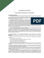 Acciones en Cartera.implicancias Jurídicas y Contables