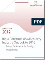 India Construction Machinery Industry Outlook 2016