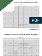 Pauta de Ensaios e Atividades OJH 2014 - Atualizada Em 10-07-14 (Versão 11)