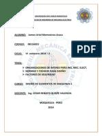 ORGANIZACIONES DE INTERES PARA ING. MEC. ELECT. NORMAS Y CODIGOS PARA DISEÑO   FACTORES DE SEGURIDAD