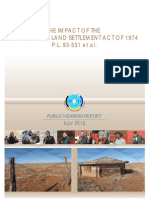 070612 NN HRC Report the Impact of the Navajo-Hopi Land Settlement Act of 1974