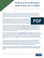 Black Lung Benefits Improvement Act Fact Sheet