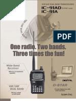 ICOM 91AD Brochure