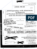 Bibliography, with abstracts, of reports of Nuclear Defense Laboratory and its predecessors - 16383835