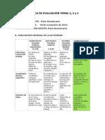 Rúbrica de evaluación TEMAS 2 3 y 4