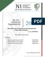 REACTORES DE POTENCIA PARA LINEAS DE MUY ALTA TENSION