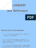 Bibliography and Reference