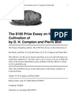 The 100 Dollar Prize Essay On The Cultivation of ThePotato And How to Cook the Potato