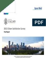 2013 Citizen Satisfaction Survey