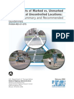 us fhwa_safety effects of marked vs unmarked crosswalks at uncontrolled locations_summary
