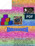 Tema 7 -La Adolescencia