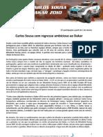 Dossiê_Carlos Sousa_Dakar 2010