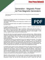 Magnetic Energy Generators