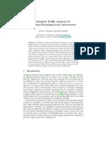 Sampled Traffic Analysis by Internet-Exchange-Level Adversaries