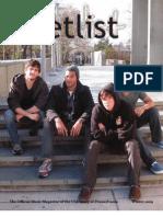 Setlist Issue III - Fall 2009