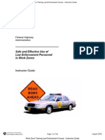 us fhwa_work zone training law enforcement course - instructor guide