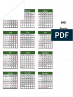 2015 Senate Schedule