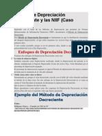 Método de Depreciación Decreciente y Las NIIF