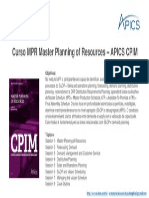 MPR _ aChain APICS CPIM _ MPR Master Planning of Resources
