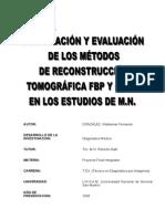 comparación y evaluación de los métodos de reconstrucción tomografica FPB y OSEM