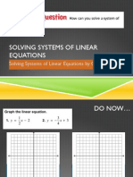 Lesson 4.1 - Solving Systems by Graphing
