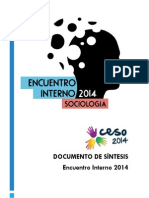 Encuentro Interno 2014 - Sintesis