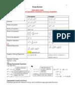 Math Study Guide/Notes For Final Exam MCR3U Grade 11 Functions