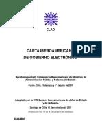 Carta Iberoamericana de Gobierno Electronico