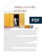 Truth or Falsity, Or is It the Communal Divide