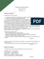 2010 Franceză Etapa Judeteana Subiecte Clasa a VIII-A 0
