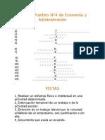 Tipos de trabajos (crucigrama)