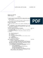 PUBLIC LAW 108–364—OCT. 25, 2004