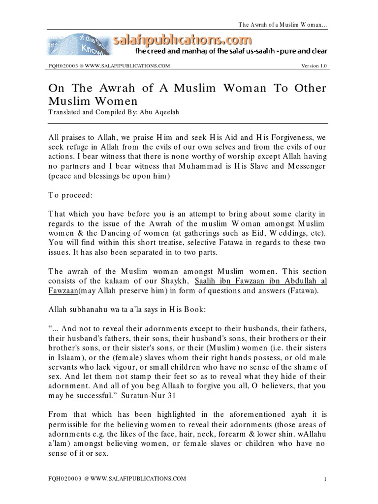 Awrah of Woman | Islamic Ethics | Islamic Theology