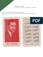 Promotional Card - Louis J. Robichaud - 1960