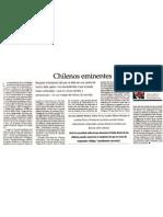 Chilenos eminentes Por Joaquín Fermandois 4 de noviembre El Mercurio