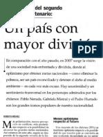 Un país con mayor división Por Roberto Méndez 4 de noviembre El Mercurio