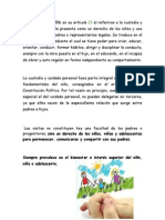 La Ley 1098 de 2006 en Su Artículo Derechos de Los Niñso en Cuanto a Visitas
