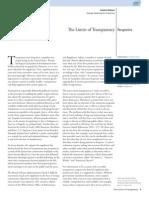 Limits of Transparency (PAR 11 AUG 2014)